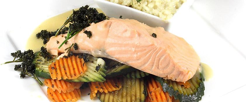 Filet de saumon restaurant groupe Paris