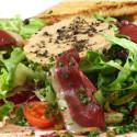 Salade de foie gras restaurant repas en groupe paris